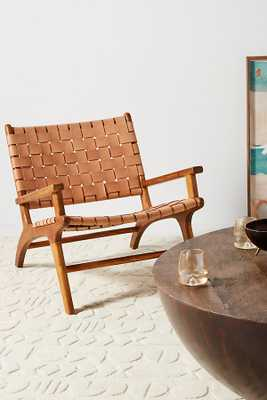 Kamara Leather-Loomed Chair - Anthropologie