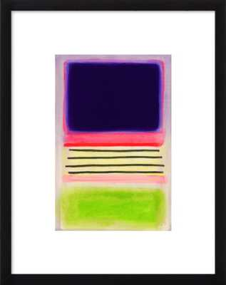"CHROMATIC FIELD #2 - 15x19"" - Black Wood Frame with Matte - Artfully Walls"