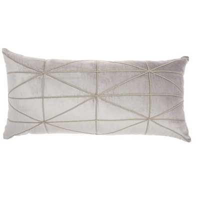 Velvet Lumbar Pillow - Light Gray - Wayfair