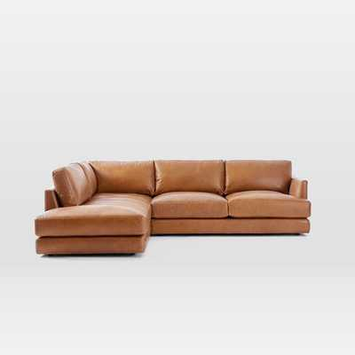 Haven Leather 2-Piece Terminal Chaise Sectional - Left Facing - West Elm
