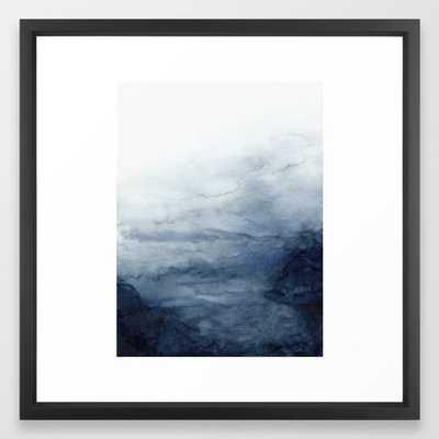 Indigo Abstract Painting | No.2 Framed Art Print - Society6