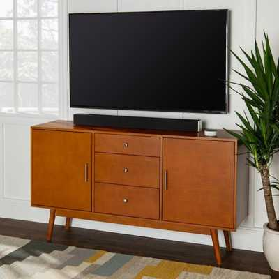 60 in. Mid-Century Modern Wood TV Console - Acorn - Home Depot