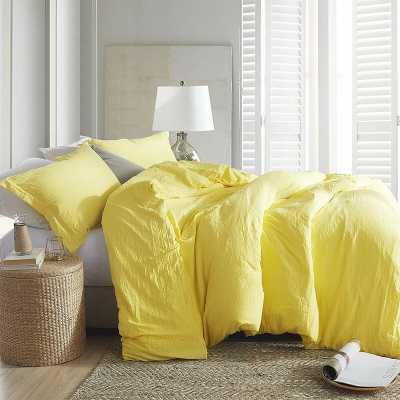 Queen Comforter + 2 Shams Limelight Yellow Shari Loft Comforter Set - Wayfair
