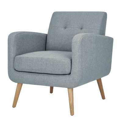 Valmy Lounge Chair - Light Blue Textured Linen - AllModern