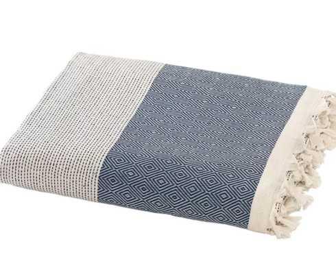 Aldo Turkish Cotton Throw Blanket -Blue - Wayfair