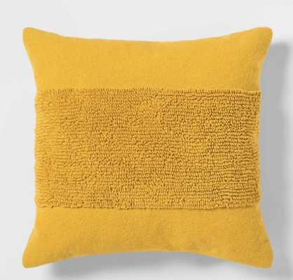 Tufted Modern Pattern Square Throw Pillow - Project 62 - Yellow - Target