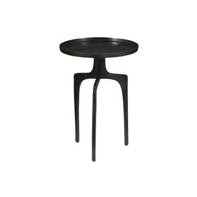 Natalie Black-finish Aluminum Accent Table - Overstock