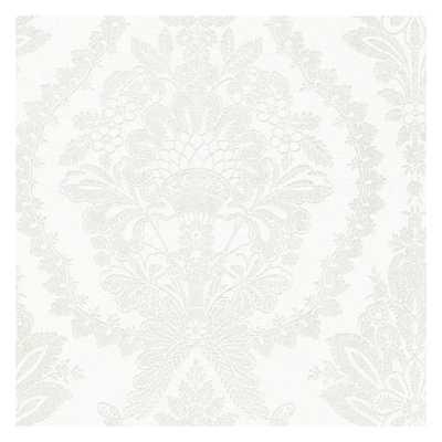 Heritage Damask Grasscloth Wallpaper - York Wallcoverings
