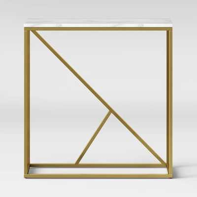 Highfield Console Table White Marble/Brass - Project 62 - Target