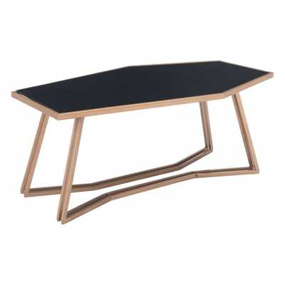 Geo Coffee Table Black & Gold - Zuri Studios