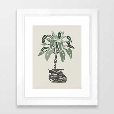 Minimal Pot Palm - Vector White - Society6