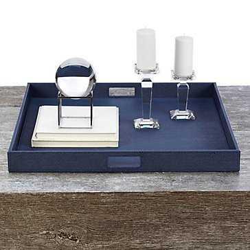 Manta Square Tray - Blue - Z Gallerie