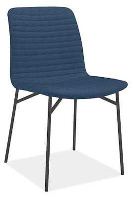 Cato Chair - Medley Grey Fabric, Black Steel Leg - Room & Board