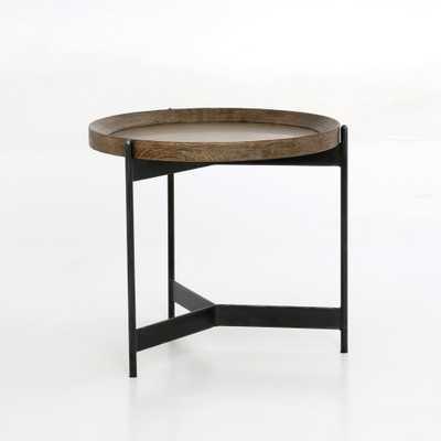 Nathaniel End Table in Powder Black by BD Studio - Burke Decor