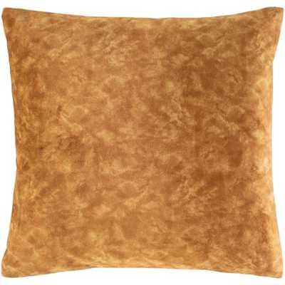 "Fine Velvet Pillow, Tan, 20""x20"" - Havenly Essentials"