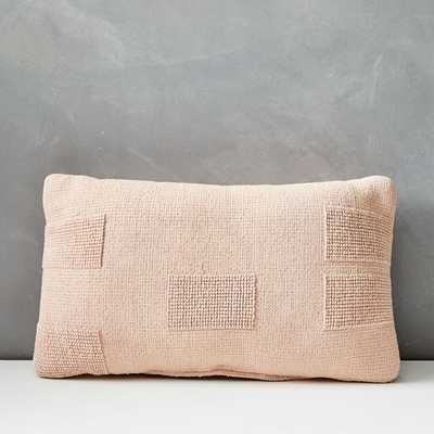 Outdoor Tufted Pillow - Pink Stone - West Elm