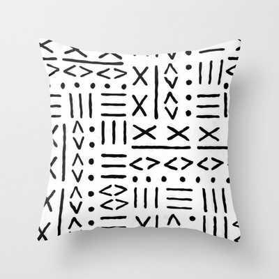 Mud Cloth Pillow I Throw Pillow - Society6