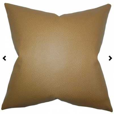 Quintas Solid Pillow Khaki with Down Insert - Linen & Seam