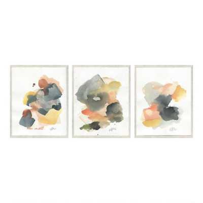 Sunset By Ellen Sherman Framed Canvas Wall Art Set Of 3 - World Market/Cost Plus