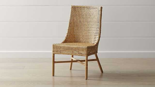 Maluku Dining Side Chair - Natural - Crate and Barrel