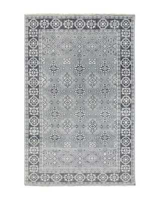 ST. CLOUD TEAL HAND-KNOTTED RUG, 2' x 3' - McGee & Co.