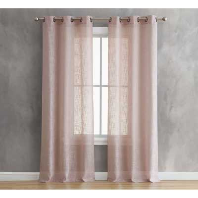 French Connection Carlock Window Solid Semi-Sheer Curtain Panels (Set of 2) - Wayfair