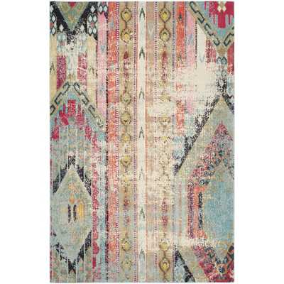 Newburyport Power Loom Polypropylene Orange/Blue/Pink Area Rug - AllModern