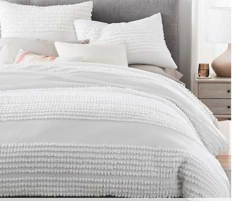 Candlewick Duvet Cover, King/Cal. King, Stone White - West Elm