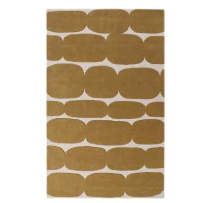 LOOMY Hand-Tufted Wool Yellow/Ivory Area Rug Rug Size: Rectangle 8' x 10' - Perigold