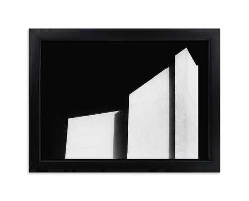 """architecture noir; rich black wood frame; standard plexi;  5""""x7"""" - Minted"""