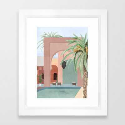 Moroccan Pool Framed Art Print - Society6