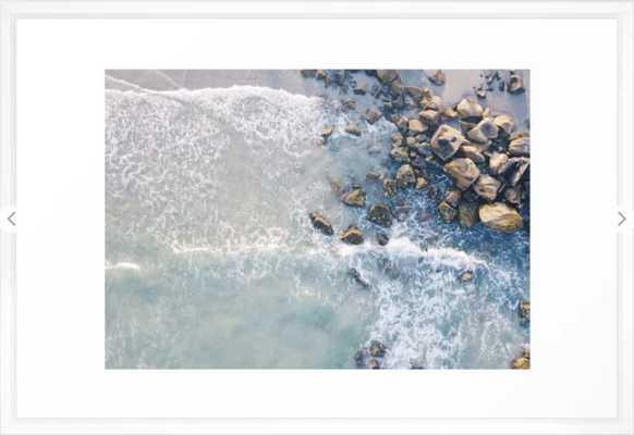 """Beach Framed Art Print - 26x38"""" - Vector White Frame - Society6"""