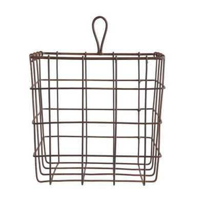 Hanging or Sitting Metal Wire Basket - Wayfair