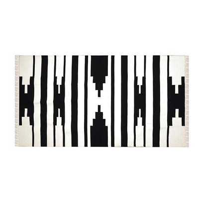 Tapti Rug in Black & White - Koa Artisans