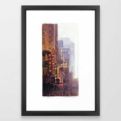 "NYC - 45th Street Framed Art Print, 15"" x 21"" in Vector Black Frame - Society6"