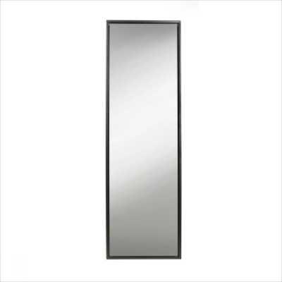 Loeffler Modern & Contemporary Beveled Free Standing Full Length Mirror - black - Wayfair