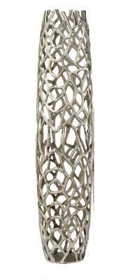Knox Silver Indoor/Outdoor Metal Floor vase - Wayfair