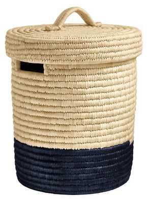 Surjo Lidded Baskets-small - Natural/Black - Room & Board