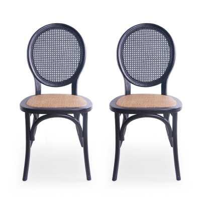 Palmer Upholstered Dining Chair (set of 2) - Wayfair