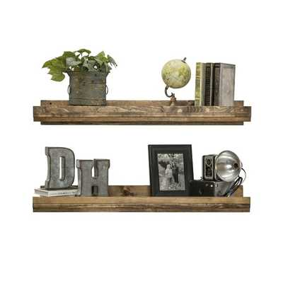 Tishie Floating Shelf (set of 2) - Wayfair