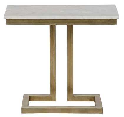 Alonzo Side Table, Brass - High Fashion Home