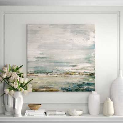 One-of-a-Kind Original 'Sea and Sky' by John Beard - Unframed Painting on Canvas - Perigold