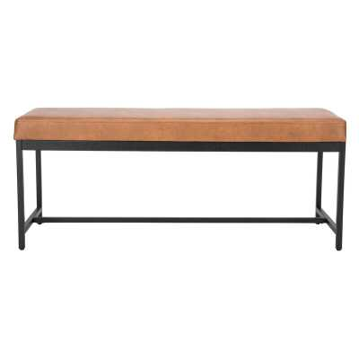Saddle Faux leather Bench - AllModern