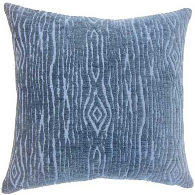 "Indira Solid Pillow - 20""x 20"" - Down Insert - Linen & Seam"