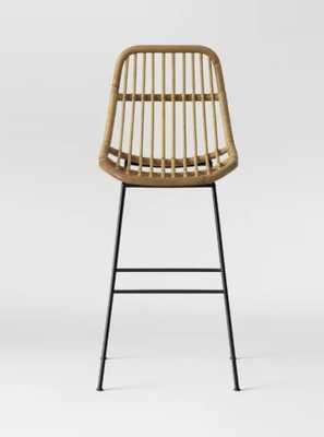 Linnet Rattan with Metal Legs Barstool - Light Brown - Opalhouse™ - Target