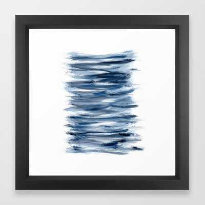 Just Indigo 2 | Minimalist Watercolor Framed Art Print - Society6