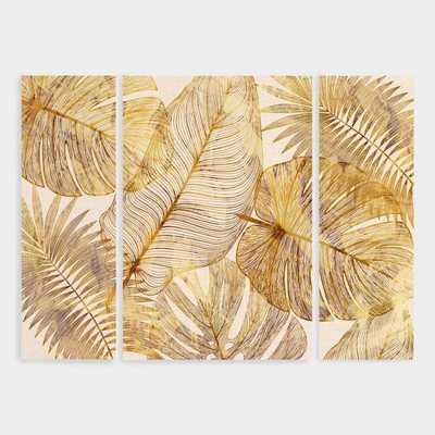 Island Golds Canvas Wall Art Triptych Set of 3: Metallic - Large by World Market - World Market/Cost Plus