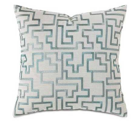 "Eastern Accents Central Park Fretwork Pillow, 22""Sq - Horchow"