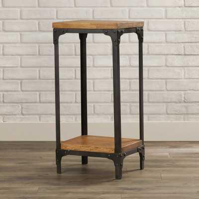 Industrial Chic Solid Wood End Table - Wayfair