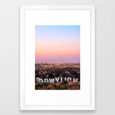 Hollywood Framed Art Print - Society6